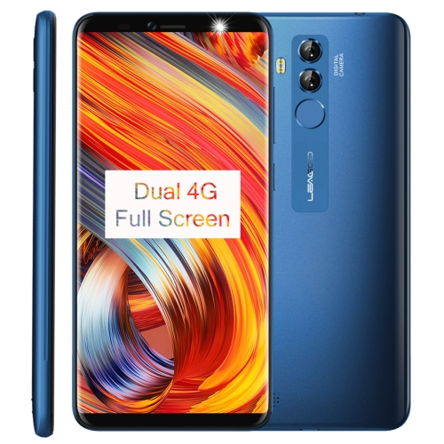 [HK Stock] LEAGOO M9 Pro, Dual 4G, 2GB+16GB, Dual Back Cameras, Face & Fingerprint Identification, 5.72 inch Android 8.1 MTK6739V Quad Core up to 1.5GHz, Network: 4G, Dual SIM(Blue)