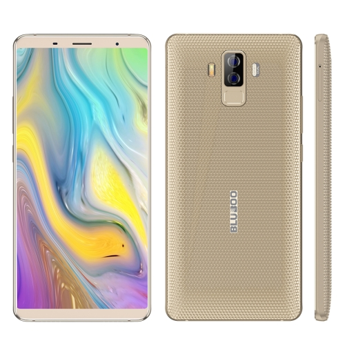 [HK Stock] BLUBOO S3, 4GB+64GB, Dual Back Cameras, Face & Fingerprint Identification, 8500mAh Battery, 6.0 inch Android 7.0 MTK6750T Octa Core up to 1.5GHz, Network: 4G, VoLTE, NFC, WiFi, GPS, OTG, Bluetooth, Dual SIM(Gold)