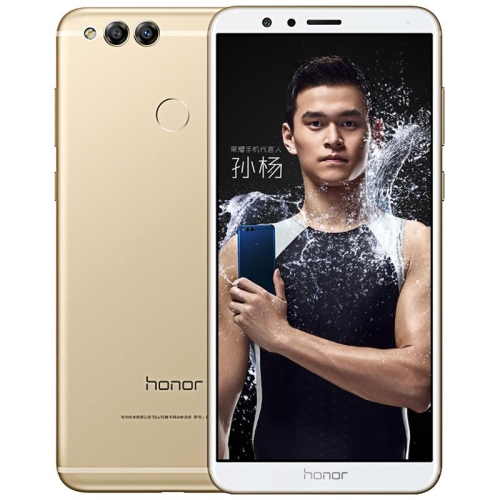 Huawei Honor 7X BND-AL10, 4GB+128GB,China Version, Fingerprint Identification, 4000mAh Battery, 5.93 inch EMUI 5.1 (Android 7.0) Kirin 659 Octa Core up to 2.36GHz, Network: 4G, Dual SIM(Gold) Support Google Play