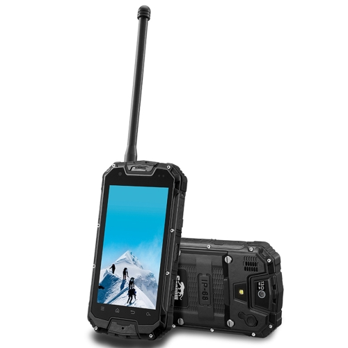Snopow M5P, 2GB+16GB, Walkie Talkie Function, 4700mAh Battery, IP68 Waterproof Dustproof Shockproof, 4.5 inch, Android 5.1 MTK6735 Quad Core up to 1.2GHz, Network: 4G(Black)
