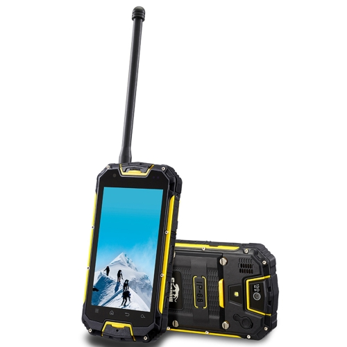Snopow M5P, 2GB+16GB, Walkie Talkie Function, 4700mAh Battery, IP68 Waterproof Dustproof Shockproof, 4.5 inch, Android 5.1 MTK6735 Quad Core up to 1.2GHz, Network: 4G (Yellow)
