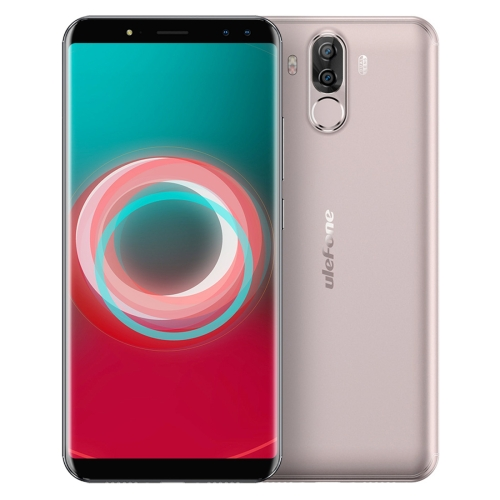 [HK Stock] Ulefone Power 3s,  4GB+64GB, Dual Back Cameras + Dual Front Cameras, 6350mah Big Battery, Face & Fingerprint Identification, 6.0 inch Android 7.1 MTK6763 Octa-core up to 2.0GHz, Network: 4G,  OTG,  Dual SIM(Gold)