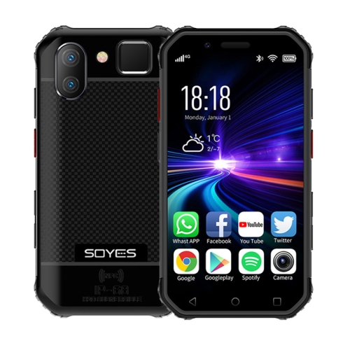 SOYES S10 3GB+32GB, Dual Back Camera, Face ID & Fingerprint Identification, 3.0 inch Android 6.0 MTK6737M Quad Core up to 1.3GHz, Dual SIM, Bluetooth, WiFi, GPS, NFC, Network: 4G, Support Google Play(Black) фото