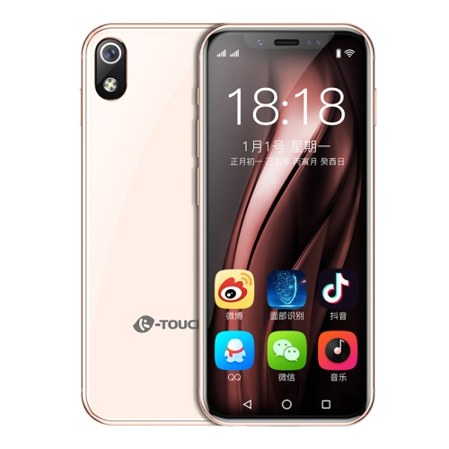 K-TOUCH I9, 2GB+16GB, Face ID Identification, 3.5 inch MTK6739 Quad Core 2.4Ghz, Network: 4G, Dual SIM, Not Support Google Play (Rose Gold)