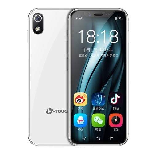 K-TOUCH I9, 3GB+64GB, Face ID Identification, 3.5 inch MTK6739  Quad Core 2.4Ghz, Network: 4G, Dual SIM,  Not Support Google Play (White)