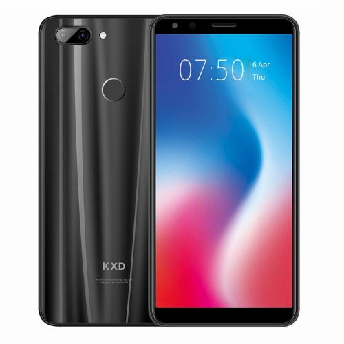 [HK Stock] KXD K30, 3GB+32GB, Dual Back Cameras, Face & Fingerprint Identification, 5.7 inch Android 8.1 MTK6750 Octa Core up to 1.5GHz, Network: 4G, Dual SIM(Black)