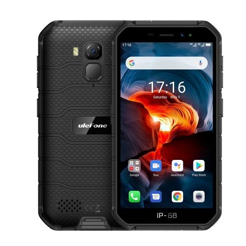 [HK Stock] Ulefone Armor X7 Pro Rugged Phone, 2GB+16GB, IP68/IP69K Waterproof Dustproof Shockproof, Face ID & Fingerprint Identification, 4000mAh Battery, 5.0 inch Android 10.0 MTK6761VWE Quad Core 64-bit up to 1.8GHz, Network: 4G, NFC, OTG (Black)