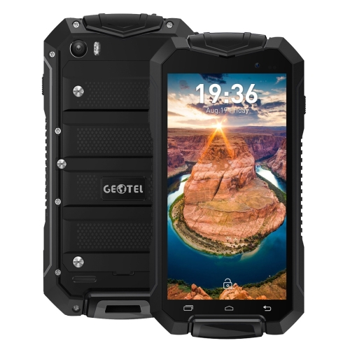 Geotel A1 Triple Proofing Phone, 1GB+8GB, Waterproof Dustproof Shockproof, 4.5 inch Android 7.0 MTK6580M Quad Core, Network: 3G, GPS, BT, WiFi, FM, Dual SIM(Black)