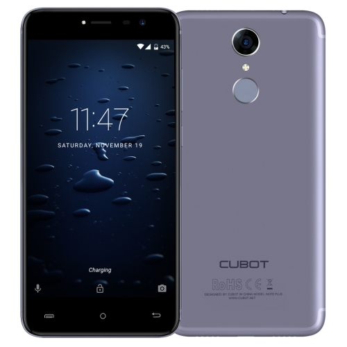 [HK Stock] CUBOT Note Plus, 3GB+32GB, Fingerprint Identification, 5.2 inch Android 7.0 MTK6737T Quad-Core up to 1.5GHz, Network: 4G, Dual SIM(Starry Blue)