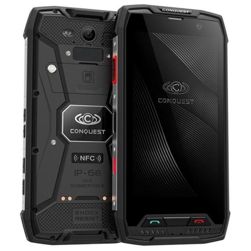 Conquest S11, 4GB+64GB, Walkie Talkie Function, RFID, 2W DMR, 7000mAh Battery, IP68 Waterproof Dustproof Shockproof, Fingerprint Identification, 5.0 inch Android 7.0 MTK6757 Octa Core up to 2.6GHz, Network: 4G, NFC, RFID, POC(Black)