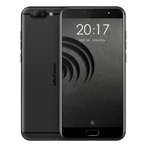 [HK Stock] Ulefone Gemini Pro, 4GB+64GB, Front Touch Fingerprint Identification, Dual Rear Cameras, 5.5 inch Android 7.1.1 MTK6797(Helio X27) Deca Core up to 2.6GHz, OTG, Network: 4G(Black)