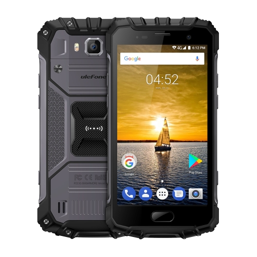 [HK Stock] Ulefone Armor 2 Triple Proofing Phone, 6GB+64GB, IP68 Waterproof Dustproof Shockproof, Fingerprint Identification, 5.0 inch Sharp Android 7.0 MTK Helio P25 Octa Core 64-bit up to 2.6GHz, Network: 4G, NFC, OTG, Dual SIM (Dark Grey)