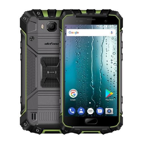 [HK Stock] Ulefone Armor 2 Rugged Phone, 6GB+64GB, IP68 Waterproof Dustproof Shockproof, Fingerprint Identification, 5.0 inch Android 7.0 MTK Helio P25 Octa Core 64-bit up to 2.6GHz, Network: 4G, NFC, OTG, Dual SIM(Green)