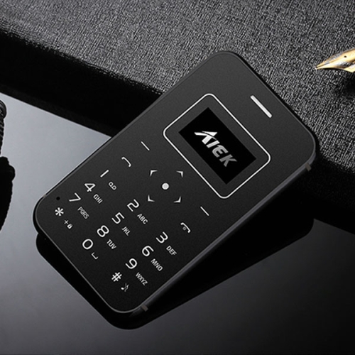AIEK X8 Card Mobile Phone, 0.96 inch Screen, MT6261M, 21 Keys, MP3, LED Torch, FM, Bluetooth, GSM(Black) edaoyou x8 7 inch car gps navigator ultra thin fm 8gb brazil and argentina free map black