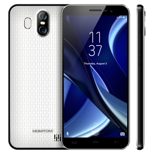 [HK Stock] HOMTOM S16, 2GB+16GB, Dual Back Cameras, Fingerprint Identification, 5.5 inch Android 7.0 MTK6580 Quad Core up to 1.3GHz, Network: 3G, Dual SIM, OTA(White)