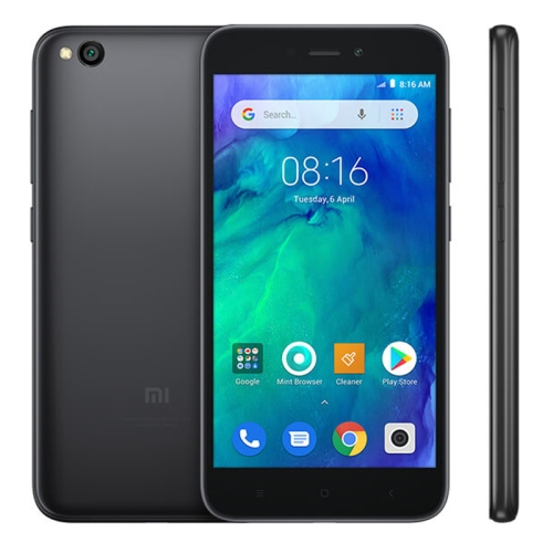 [HK Stock] Xiaomi Redmi Go, 1GB+16GB, Global Official Version, 5.0 inch Android 8.1 Oreo Go Qualcomm Snapdragon  425 Quad Core up to 1.4GHz, Network: 4G, Dual SIM (Black)