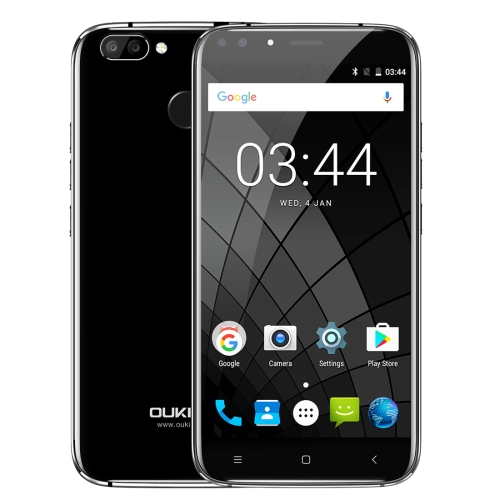 [HK Stock] OUKITEL U22, 2GB+16GB, Dual Rear Cameras + Dual Front Cameras,  Fingerprint Identification, 5.5 inch  Android 7.0 MTK6850A Quad Core up to 1.3GHz, Network: 3G, Dual SIM (Black)