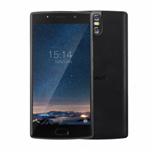 [HK Stock] DOOGEE BL7000, 4GB+64GB, Dual Back Cameras, DTouch Fingerprint, 7060mAh Battery, 5.5 inch Android 7.0 MTK6750T Octa Core up to 1.5GHz, Network: 4G, OTG, OTA, Dual SIM(Black)