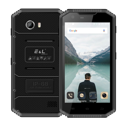 [HK Stock] E&L Proofing W7S, 2GB+16GB, IP68 Waterproof Shockproof Dustproof, 5.0 inch Android 6.0 MTK6737 Quad Core up to 1.3GHz, Network: 4G, MIL-STD-810G Certification(Black)