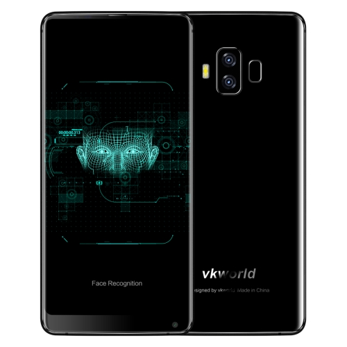 [HK Stock] VKworld S8, 4GB+64GB, Dual Back Cameras, Face & Fingerprint Identification, 5500mAh Battery, 5.99 inch Full Screen Android 7.0 MTK6750T Octa Core up to 1.5GHz, Network: 4G, Dual SIM(Black)