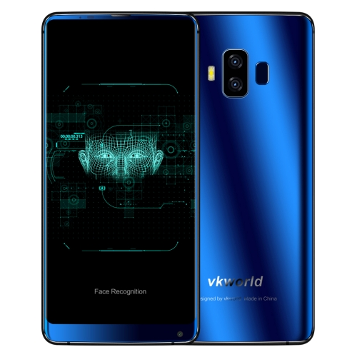 [HK Stock] VKworld S8, 4GB+64GB, Dual Back Cameras, Face & Fingerprint Identification, 5500mAh Battery, 5.99 inch Full Screen Android 7.0 MTK6750T Octa Core up to 1.5GHz, Network: 4G, Dual SIM(Blue)