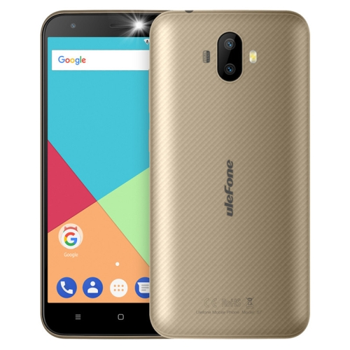 [HK Stock] Ulefone S7, 1GB+8GB, Dual Back Cameras, 5.0 inch Android 7.0 MTK6580A Quad Core 32-bit up to 1.3GHz, Network: 3G, Dual SIM(Gold)