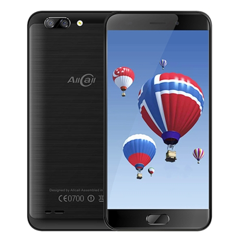AllCall Atom, 2GB+16GB, Dual Back Cameras,  5.2 inch Android 7.0 MTK6737 Quad Core up to 1.3GHz, Network: 4G, OTG, Dual SIM(Black)
