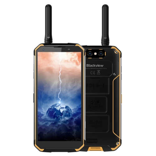 [HK Stock] Blackview BV9500 Pro Rugged Phone, 6GB+128GB, IP68 Waterproof Dustproof Shockproof, Walkie-talkie, Dual Back Cameras, 10000mAh Battery, Side Place Fingerprint Identification, 5.7 inch Android 8.1 Helio P23 (MT6763T) Octa Core up to 2.5GHz, NFC,