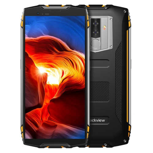 [HK Stock] Blackview BV6800 Pro Rugged Phone, 4GB+64GB, IP68 Waterproof Dustproof Shockproof, 6580mAh Battery, Face ID & Fingerprint Identification, 5.7 inch Android 8.0 MTK6750T Octa Core up to 1.5GHz, NFC, Wireless Charging, Network: 4G(Yellow)