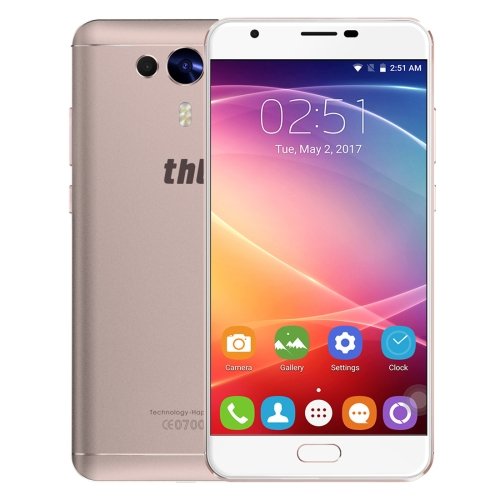 THL Knight 1, 3GB+32GB, Dual Back Cameras, Fingerprint Identification, 5.5 inch 2.5D Android 7.0 MTK6750T Octa Core up to 1.5GHz, Network: 4G, OTG, Dual SIM(Gold)
