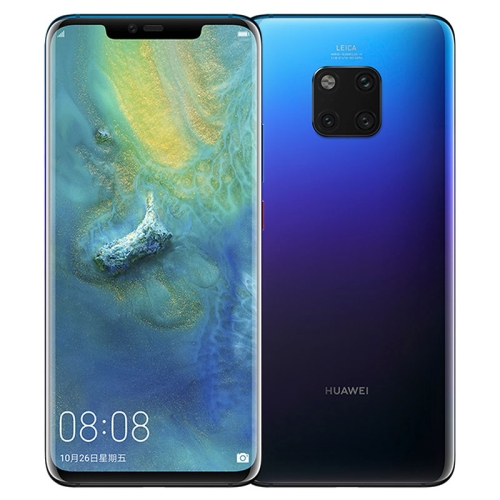 Huawei Mate 20 Pro, 8GB+256GB, China Version, Triple Back Cameras, 4200mAh Battery, 3D Face ID & Screen Fingerprint Identification, 6.39 inch EMUI 9.0.0 (Android 9.0) HUAWEI Kirin 980 Octa Core, 2 x Cortex A76 2.6GHz+ 2 x Cortex A76 1.92GHz + 4 x Cortex A