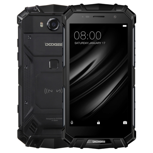 [HK Stock] DOOGEE S60 Lite Triple Proofing Phone, 4GB+32GB, IP68 Waterproof Dustproof Shockproof, 5580mAh Battery, Fingerprint Identification, 5.2 inch Android 7.0 MTK6750T Octa Core up to 1.5GHz, Network: 4G, NFC, OTA, Wireless Charge(Black)