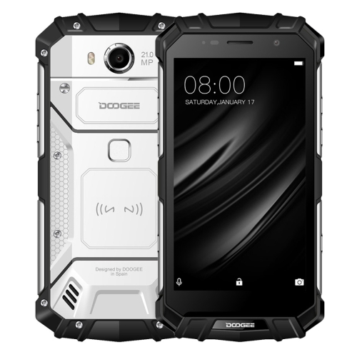 [HK Stock] DOOGEE S60 Triple Proofing Phone, 6GB+64GB, IP68 Waterproof Dustproof Shockproof, 5580mAh Battery, Fingerprint Identification, 5.2 inch Android 7.0 MTK Helio P25 Octa Core up to 2.5GHz, Network: 4G, NFC, OTA, QI Wireless Charge(Silver)