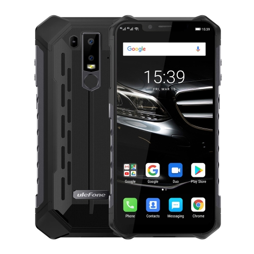 [HK Stock] Ulefone Armor 6E Rugged Phone, Dual 4G & VoLTE, 4GB+64GB, IP68/IP69K Waterproof Dustproof Shockproof, Face ID & Fingerprint Identification, 5000mAh Battery, 6.2 inch Android 9.0 Helio P70 (MKT6771T) Octa-core 64-bit up to 2.1GHz, Network: 4G,  OTG, NFC, Wireless Charging(Black)