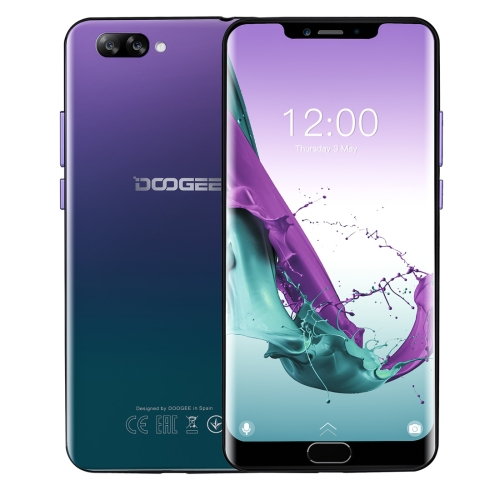 [HK Stock] DOOGEE Y7 Plus, 6GB+64GB, Dual Back Cameras, Face ID & DTouch Fingerprint, 5080mAh Battery, 6.18 inch U-notch Android 8.1 MTK6757 Octa Core up to 2.5GHz, Network: 4G, OTG, OTA, Dual SIM (Twilight)