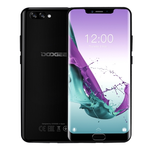[HK Stock] DOOGEE Y7 Plus, 6GB+64GB, Dual Back Cameras, Face ID & DTouch Fingerprint, 5080mAh Battery, 6.18 inch U-notch Android 8.1 MTK6757 Octa Core up to 2.5GHz, Network: 4G, OTG, OTA, Dual SIM (Obsidian Black)