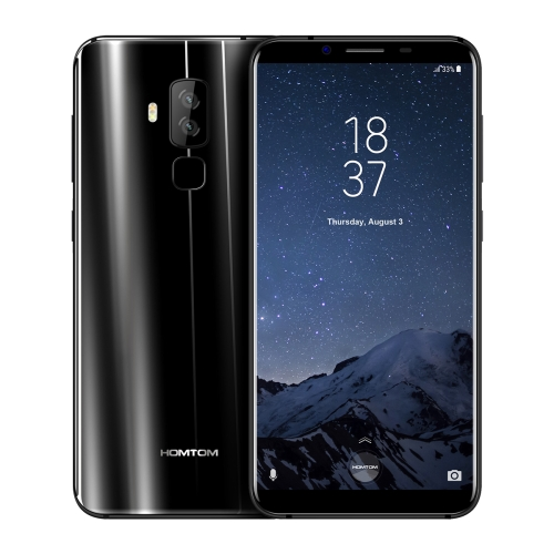 [HK Stock] HOMTOM S8, 4GB+64GB, Dual Back Cameras, Fingerprint Identification, 5.7 inch 2.5D Android 7.0 MTK6750T Octa Core up to 1.5GHz, Network: 4G, Dual SIM, OTG, WiFi, OTA, GPS(Black) original 10 1 tablets android octa core 32 64gb rom dual camera dual sim tablet pc 1920x1200 wifi otg gps bluetooth phone