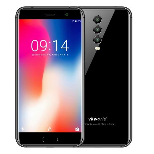 [HK Stock] VKworld K1, 4GB+64GB, Triple Back Cameras, Face ID & Fingerprint Identification, 4040mAh Battery, 5.2 inch Android 8.1 MTK6750T Octa Core up to 1.5GHz, Network: 4G, Dual SIM(Black)