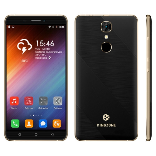 KINGZONE S20, 1GB+16GB, Fingerprint Identification, 5.5 inch KOS 2.1 (Android 6.0) MTK6580A Quad Core up to 1.3GHz, Network: 3G(Black)