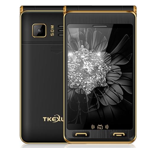 TKEXUN G10 Plus Flip Phone, Dual Screen, 3.5 inch, 7500mAh Battery, MTK6253, Support TV, FM, MP3, SOS, GSM(Black)