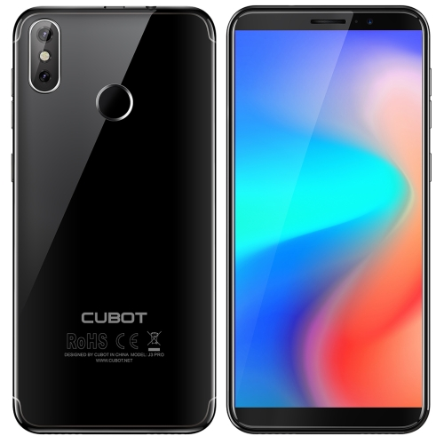 [HK Stock] CUBOT J3 PRO, 1GB+16GB, Fingerprint Identification,  5.5 inch Android GO MT6739 Quad Core up to 1.5GHz, Network: 4G, Dual SIM(Black)