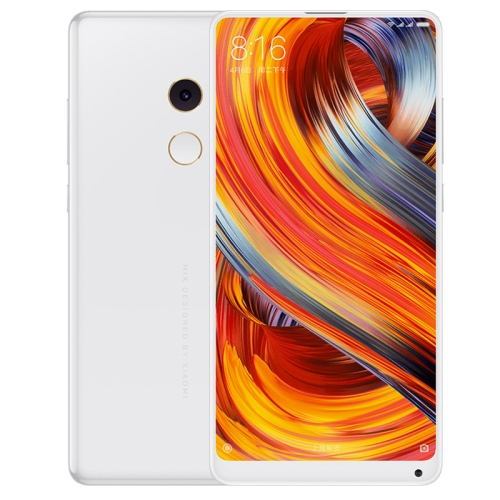 Xiaomi MI MIX 2, 8GB+128GB, Ultrasonic Distance Sensor, Fingerprint Identification, QC 3.0, Unibody Ceramic, 5.99 inch Full Screen, Qualcomm Snapdragon 835 Octa Core up to 2.45GHz, Network: 4G(White) 6902 full si3n4 ceramic deep groove ball bearing 15x28x7mm full complement 61902