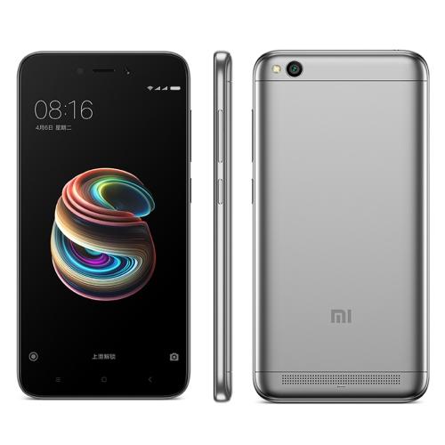 Xiaomi Redmi 5A, 3GB+32GB, 5.0 inch MIUI 9.0 Qualcomm Snapdragon 425 Quad Core up to 1.4GHz, Network: 4G, Dual SIM(Grey) сотовый телефон xiaomi redmi note 5a prime 3gb ram 32gb grey
