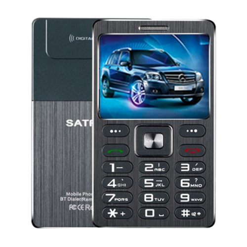SATREND A10 Card Mobile Phone, 1.77 inch, MTK6261D, 21 Keys, Support Bluetooth, MP3, Anti-lost, Remote Capture, FM, GSM, Dual SIM(Black) фото