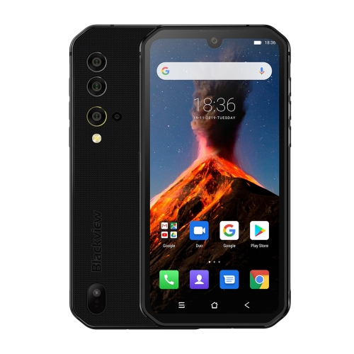 [HK Stock] Blackview BV9900, 8GB+256GB, IP68/IP69K Waterproof Dustproof Shockproof, Triple Rear Cameras, 4380mAh Battery, Side-mounted Fingerprint Identification, 5.84 inch Android 9 Pie MT6779V Octa Core up to 2.1GHz, NFC, Wireless Charge, Network: 4G(Black) фото