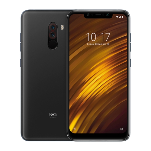[HK Stock] Xiaomi POCO F1, 6GB+64GB, Global Official Version, IR Face Unlock + Back Fingerprint Identification, LiquidCool Technology, Dual Rear Camera, 4000mAh Battery, 6.18 inch MIUI 9.6 (Based on Android 8.1) Qualcomm Snapdragon 845 Octa Core up to 2.8GHz, Network: 4G, Dual SIM(Graphite Black)