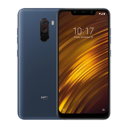 [HK Stock] Xiaomi POCO F1, 6GB+128GB, Global Official Version, IR Face Unlock + Back Fingerprint Identification, LiquidCool Technology, Dual Rear Camera, 4000mAh Battery, 6.18 inch MIUI 9.6 (Based on Android 8.1) Qualcomm Snapdragon 845 Octa Core up to 2.8GHz, Network: 4G, Dual SIM(Steel Blue)