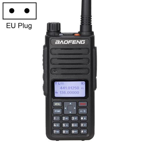 BaoFeng DM-1801 5W(High) 2W(Low) Digital Dual Band Two-Way Radio VHF UHF Handheld Walkie Talkie, EU Plug