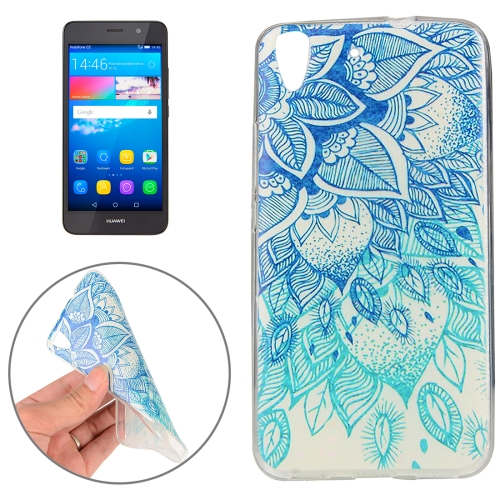 Buy Huawei Y6, 2016 Blue Leaves Pattern TPU Protective Case for $1.00 in SUNSKY store