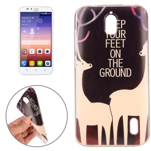 Buy Huawei Y625 Sika Deer Words Pattern TPU Protective Case for $1.02 in SUNSKY store